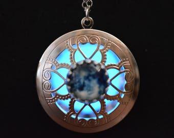 Blue Moon Glowing Locket
