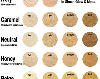 30g Mineral Foundation - Medium Coverage With Glow - 18 Colours To Choose From