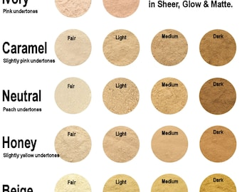 SAMPLE PACK Mineral Foundation - Medium Coverage With Glow - Choose 3 shades!