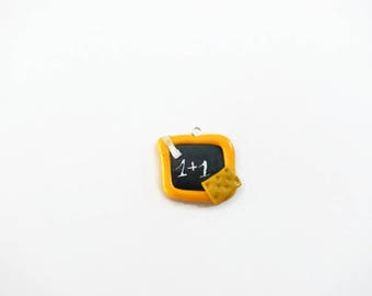 Slate charm school yellow polymer clay