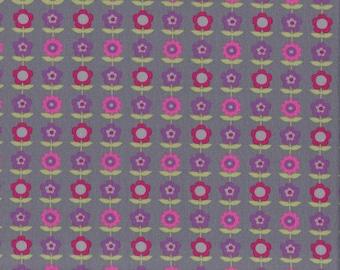 Floral Line - Grey - Stenzo Poplin