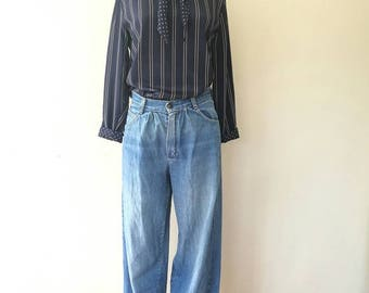 Vintage SEARS pleated made in USA TALON zipper jeans