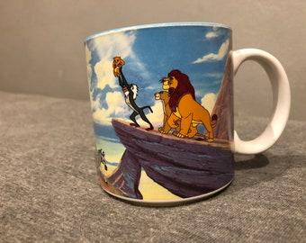 Vintage Walt Disney The Lion King Ceramic Mug