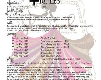 Yard Farkle Rules
