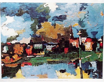 Dresdon by Oskar Kokoschka Artwork Reproduction, Print Cityscape