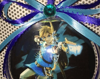 Link from zelda themed ornament