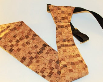 Wooden tie | Handmade wood tie | Tie for men | Cork tie I Handmade cork tie | Wooden bow tie | Gift for him | Wooden gift for him