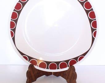 Corelle Kitu Dinner Plate / Corelle Corning Plate with Red Dots and Modern Triangle Shape / Corelle Dish / Mod Dinner Plate / 1980s  sc 1 st  Etsy & Corelle red dinner | Etsy