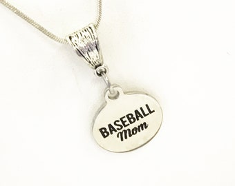 Baseball Mom Jewelry, Baseball Mom Gift, Mom Jewelry, Baseball Mom Necklace, Jewelry Gift For Her, Baseball Mom Wife Jewelry Gift
