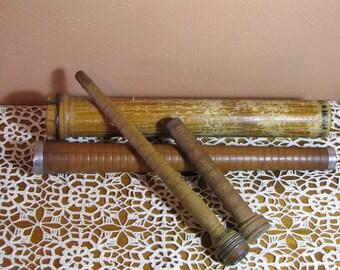 Vintage Wooden Factory Bobbins (4)
