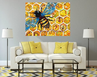Honey Bee art, Bee art, bees, garden art, garden critters, Metal prints, Pittsburgh Artist,  by Johno Prascak