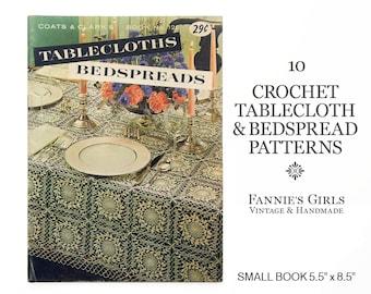 Crochet Patterns, Coats and Clark, Book 120, crochet bedspread, crochet tablecloth, crochet pattern book, vintage crochet, vintage patterns