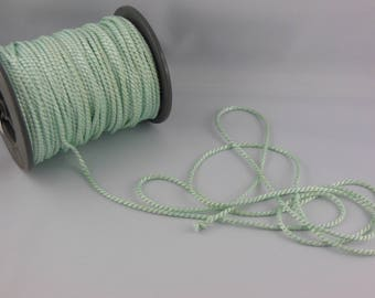 Color blue/green rayon twisted cord