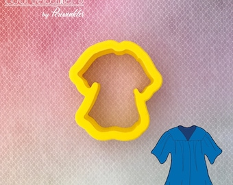 Gown  Cookie Cutter - Graduation Cookie Cutter - Prom Cookie Cutter - Periwinkles