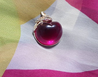Vintage Sarah Coventry brooch jelly belly Cherry or Apple no matter it is beautyful