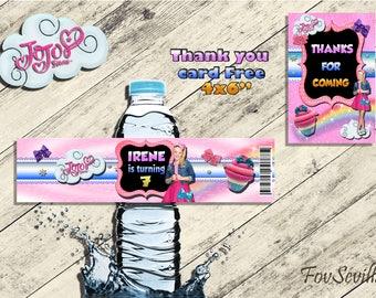 Tags water bottles jojo siwa,jojo siwa party tags,jojo siwa party, jojo siwa,etiquetas botellas jojo siwa, bottle labels jojo siwa,tags,jojo