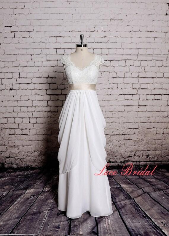 Spezielles Design Hochzeit Kleid V-Rücken Brautkleid mit