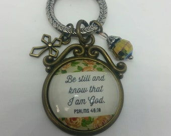 Pendant Necklace,  Christian Necklace, Bible Verse Necklace