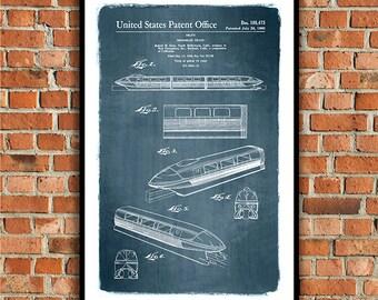 Disneyland Monorail, 1960 Patent Art Print