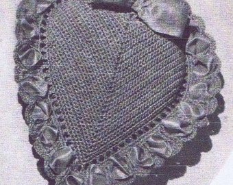 Heart Pincushion PATTERN 9025 in Crochet this will make a 3 1/4 inch pincushion the pattern is in Pdf format an instant download
