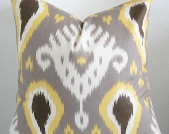 Dwell Studio Batavia Ikat Citrine decorative pillow cover
