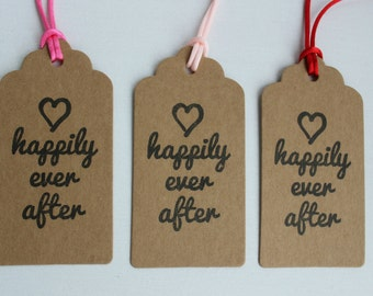 Gift tags for wedding gifts, presents and wedding favours, pastel pink, hot pink and red, set of 3
