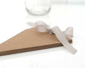 Brown Kraft Banner Paper Pad - DIY bunting/banner/flag/tag/Party decor