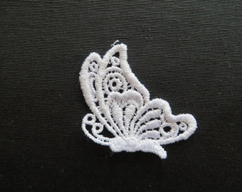 Butterfly Applique Sideview Venise Lace 6015