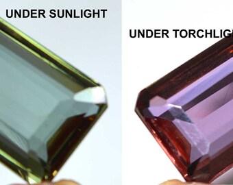 61.65 Ct IGL Certified Octagon Cut Color Changing Alexandrite Loose Gemstone