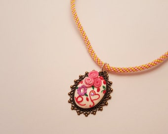 Love cameo necklace