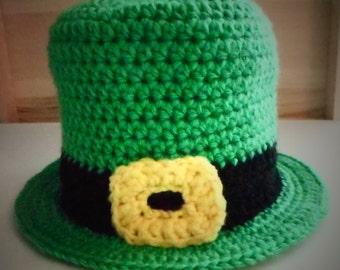 Free Amigurumi Leprechaun Pattern : Leprechaun knitted baby hat st. patrick's day gift kids