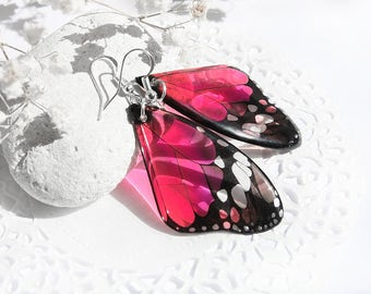 Birthday gift for sister gift Red earrings Resin jewelry Butterfly earrings Butterfly wing jewelry Unusual earrings for girl gift Prom gift