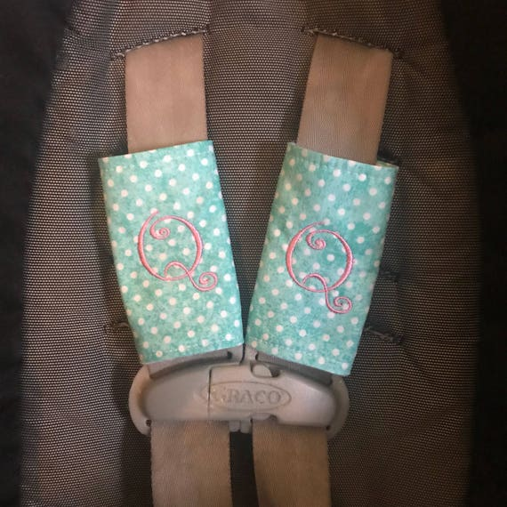 Monogrammed Car Seat Strap Covers