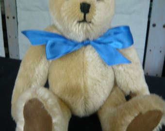 Handmade Artist Teddy Bear, Fawn colour  Mohair with Suede pads and paws