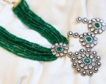 Kundan Jadau necklace, Indian wedding, Bollywood Necklace, Kundan Jewelry, Kundan Enamel Necklace, Rani Haar