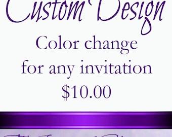 Custom Design Fee for color change