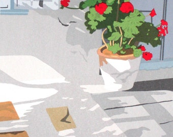 In Mykonos- Late Afternoon, limited edition serigraph