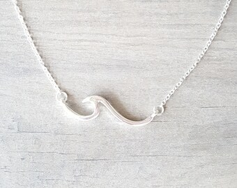 Beach Wave Necklace, Beach Jewelry, Beach Wedding
