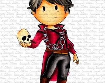 Hamlet Digital Stamp by Sasayaki Glitter - Line art only