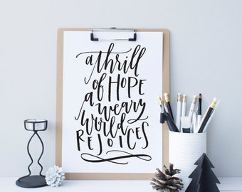 A Thrill of Hope Print