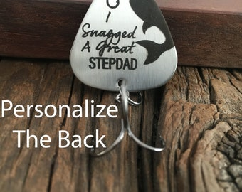 Step Dad Gift I Snagged A Great Step Dad Fishing Lure Gift Birthday Gift For Step Dad Fishing Lure Gift for My Father Gift Fishing Lure Gift