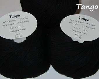 10 balls of wool and cashmere / Made in France / black