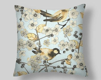 Blue  Pillow, Pillow Cover , Decorative Pillows, Waverly In the Air Mineral , Accent Pillows , Throw Pillows,