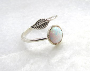 Opal Ring - Silver Ring, Boho Jewelry, Silver Opal Ring, Boho Ring, Gifts for her, October Birthstone, Birthstone Jewellery, Opal Jewellery