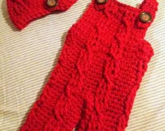 Crochet overalls