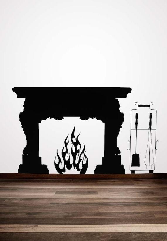 Fireplace Mantel Vinyl Decal Fireplace Mantle Fireplace