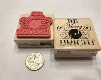 Be Merry and Bright stamp , 40 mm (BB1/3)