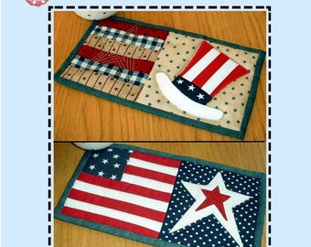 Stars Stripes and Uncle Sam Pattern Pack - Two Mug Rug Patterns from the Patchsmith