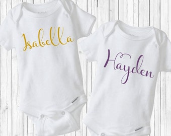 baby girl bring home outfit - Script written name creepers