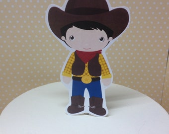 Cowboy Wild West Party Cake Topper Decoration